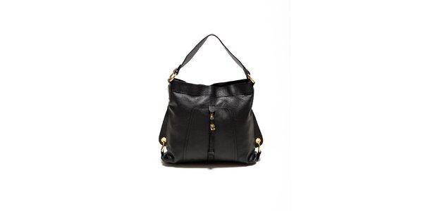 Dámska čierna kabelka so zlatými prackami Renata Corsi