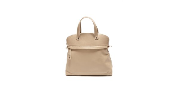 Dámska béžová kabelka s lemom Renata Corsi