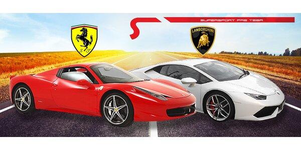 Dokonalý zážitok z jazdy na Lamborghini či Ferrari