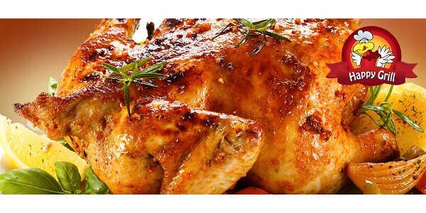 Grilované kura alebo obedové menu v HAPPY GRILL