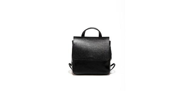Dámska čierna kožená retro kabelka Renata Corsi