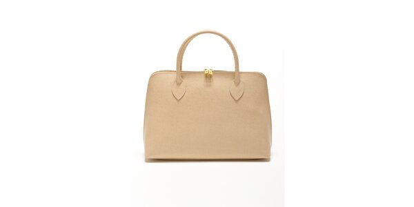 Dámska béžová kabelka z kvalitnej kože Renata Corsi