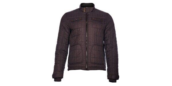 Pánska tmavo šedá prešívaná bunda Pepe Jeans