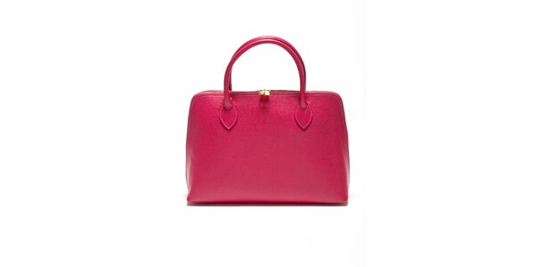 Dámska fuchsiová kabelka z kvalitnej kože Renata Corsi