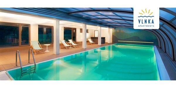 Leto v exkluzívnych apartmánoch Vlnka s bazénom