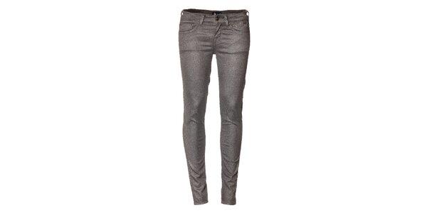 Dámske strieborné džíny Pepe Jeans