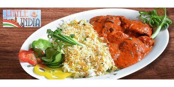 Indická tikka masala s bashmatti ryžou