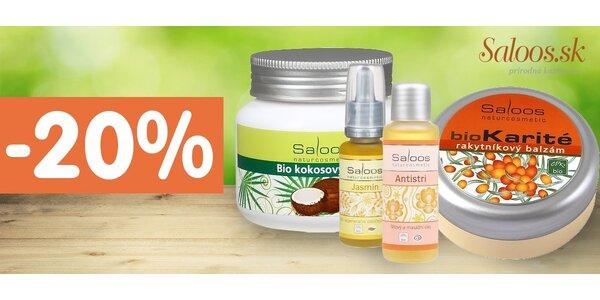 20% zľava na celý sortiment e-shopu Saloos.sk