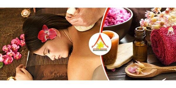 Thajská masáž podľa výberu pre 1 alebo 2 osoby