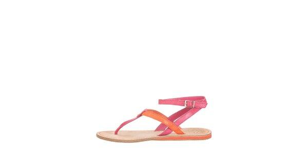 Dámske oranžovo-ružové sandálky Flip Flop