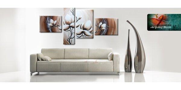 Ručne maľované 4-dielne obrazy