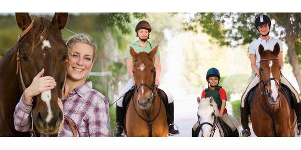 7 eur za jazdu na koni s doprovodom na Ranči Lieskovec