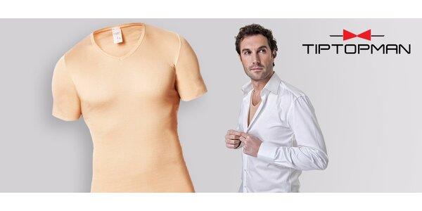 Kvalitné pánske neviditeľné tričko pod košeľu