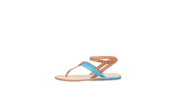 Dámske modro-hnedé sandálky Flip Flop
