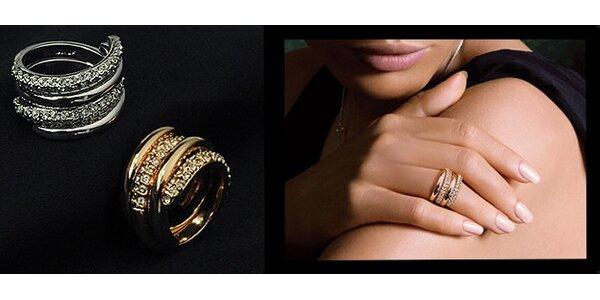 Luxusný set prsteňov Twin Swarovski Elements