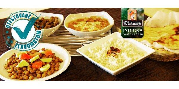 Indické menu aj s dovozom