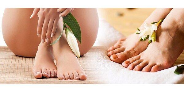 Mokrá alebo suchá pedikúra s masážou nôh