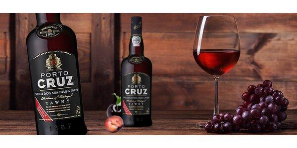Exkluzívne portské vína Porto Cruz Tawny alebo Ruby