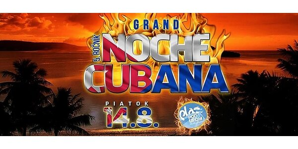 Vstupenka na Kubánsku noc 14.8.2015