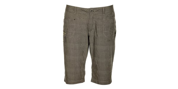 Dámske šedé kockované capri nohavice Loap