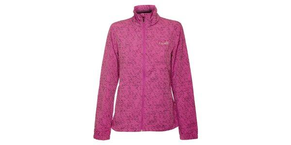 Dámska svetlo fialová softshellová bunda Loap s potlačou