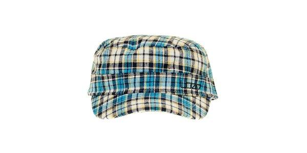 Zeleno-fialová kockovaná čapica Loap