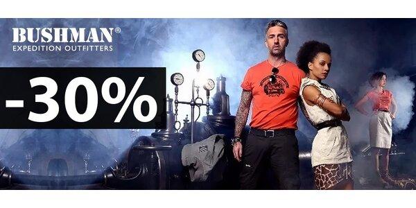 30% zľava na outdoorové oblečenie BUSHMAN
