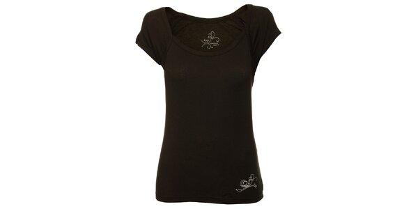 Dámske čierne tričko Loap