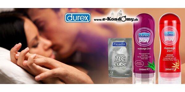 Letný balíček rozkoše: masážne a lubrikačné gély