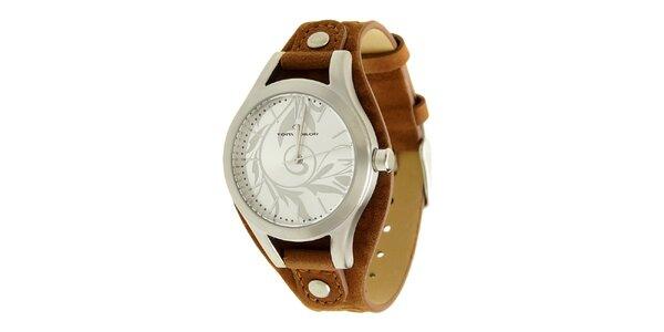 Dámske hnedé analogové hodinky Tom Tailor