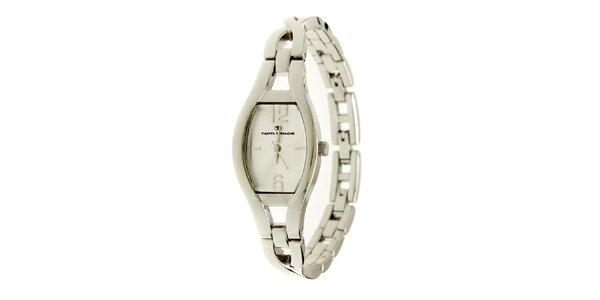 Dámske strieborné náramkové analogové hodinky Tom Tailor