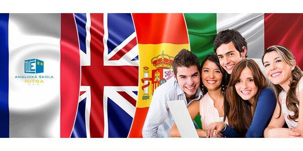 Kurzy angličtiny, francúzštiny, španielčiny a taliančiny