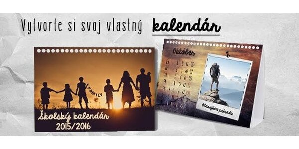 Školský kalendár s vlastnými fotkami