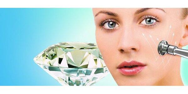 Diamantová mikrodermabrázia tváre či ošetrenie vapozón