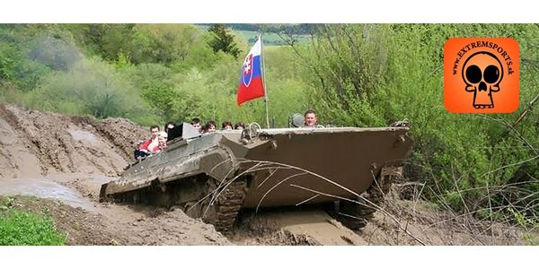 Adrenalínová jazda na tanku!