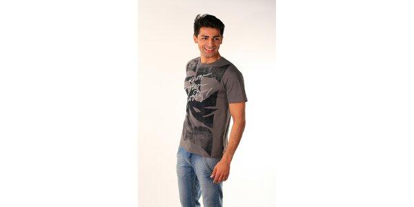 Pánske ocelovo šedé tričko Bestebat s potlačou
