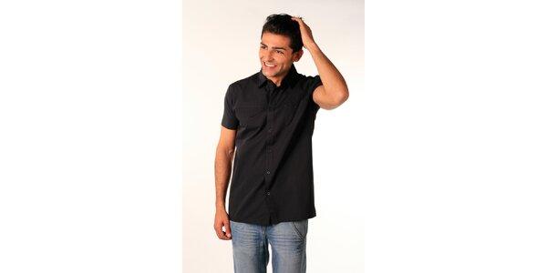 Pánska čierna košeľa Bestebat