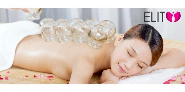 Hodinová masáž spojená s bankovaním a ošetrením uzlín