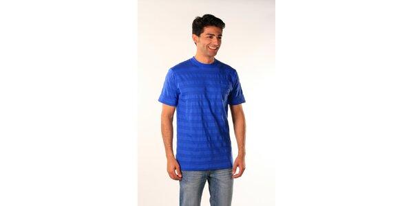 Pánske žiarivo modré prúžkované tričko Bestebat