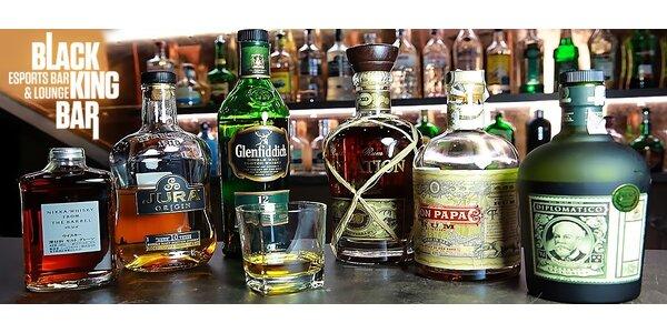 Whisky či rum balíček pre super štart večera