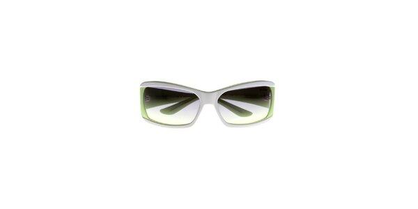 Dámske bielo-zelené slnečné okuliare Big Star