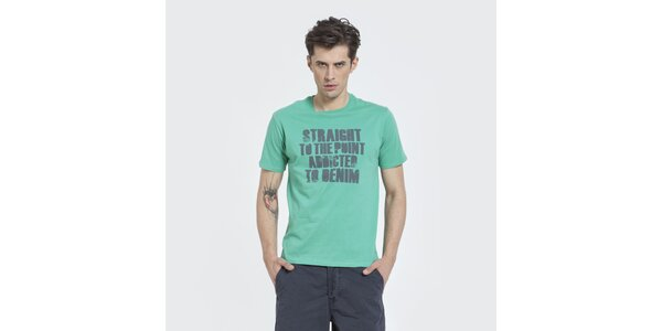 Pánske zelené tričko Big Star s potlačou
