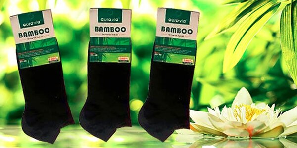 5 párov kvalitných členkových ponožiek z bambusu