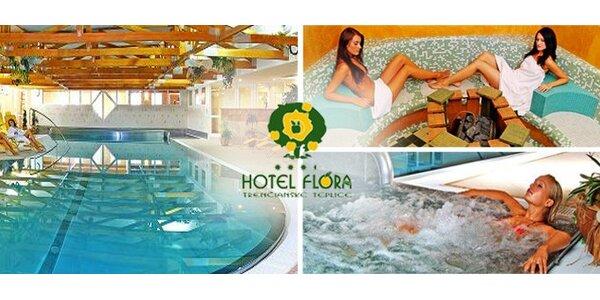 69 EUR za relaxačný pobyt v hoteli FLÓRA*** v Trenčianskych Tepliciach.