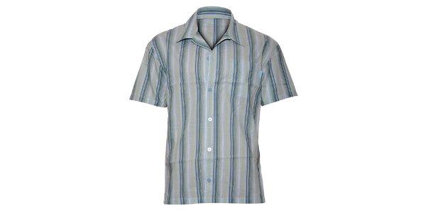 Pánska svetlo modrá prúžkovaná pyžamová košela Calvin Klein