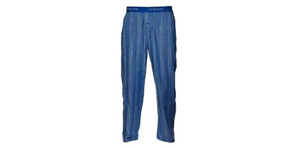 Pánske svetlo modré prúžkované pyžamové nohavice Calvin Klein