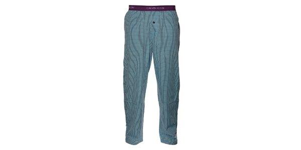 Pánské svetlo modré kockované pyžamové nohavice Calvin Klein