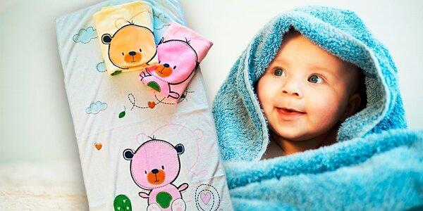Kvalitné detské osušky z mikrovlákna, 3 kusy