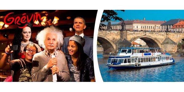 Vstup do slávneho múzea Grévin s možnosťou plavby po Vltave
