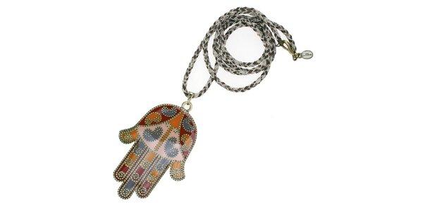 Dámsky náhrdelník Escapulario s rukou Fatimy